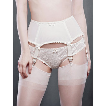 Kiss Me Deadly 6 Straps Boned Van Doren Suspender Belt