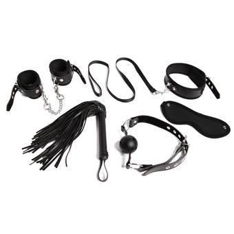 Bondage Boutique Intermediate Faux Leather Bondage Kit 5 Piece