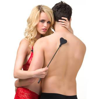 Bondage Boutique Beginners Silicone Heart Riding Crop