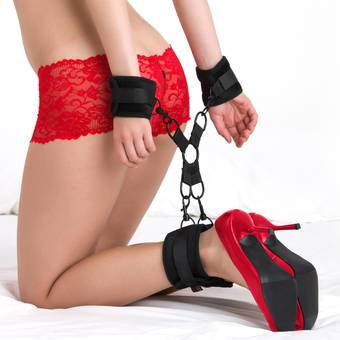 Bondage Boutique Intermediate Soft Velvet Hogtie