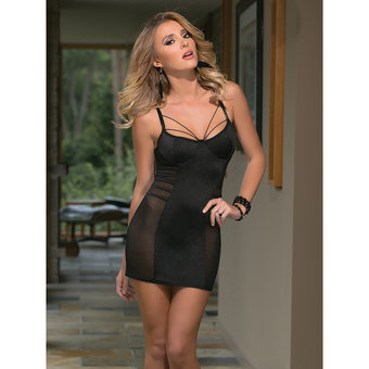 Coquette Tight and Sexy Chemise with Strap Detail