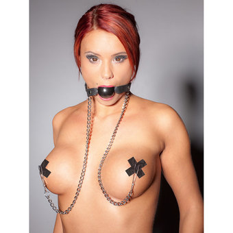 Zado Ball Gag and Nipple Clamps