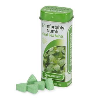 Comfortably Numb Spearmint Oral Sex Mints 25g