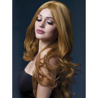 Fever Rhianne 26 Inch Long Auburn Soft Curl Wig with Centre Parting