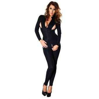Whisper of the Night Sexy Catsuit with Zips