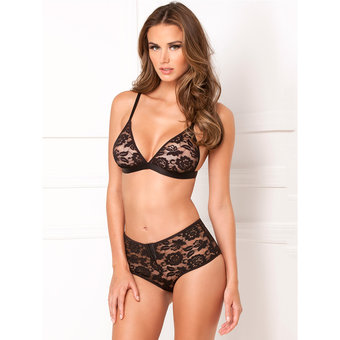 Rene Rofe Retro High Waisted Knicker and Bra Set