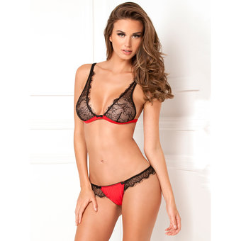 Rene Rofe Spellbound Lace Bra and Thong Set
