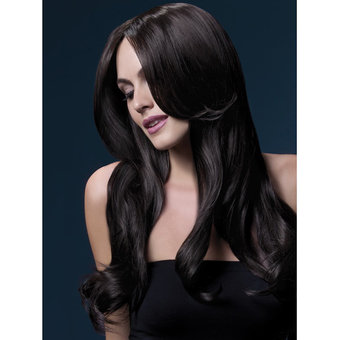 Fever Khloe 26 Inch Long Brown Wavy Wig with Center Parting