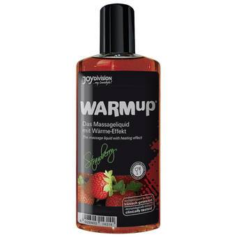Warming Strawberry Flavoured Massage Lubricant 150ml