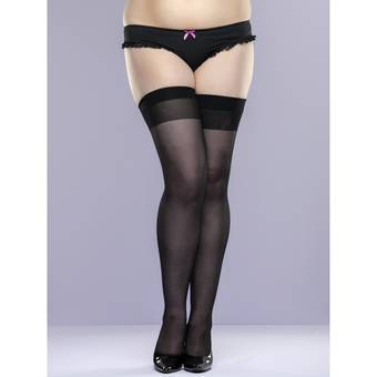 Lovehoney Plus Size transparente hohe Strümpfe