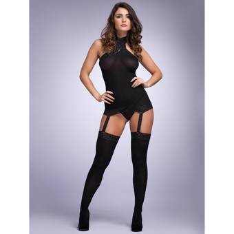 Combinaison robe et bas transparents par Lovehoney