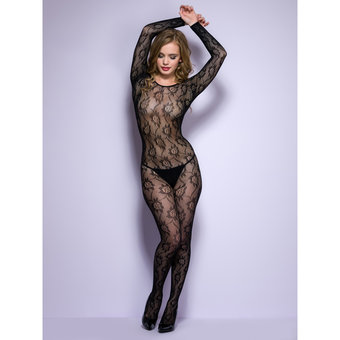 Lovehoney Floral Lace Crotchless Bodystocking