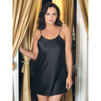 iCollection Plus Size Satin Chemise