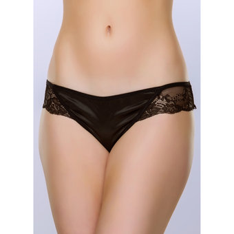 Lovehoney Spoil Me Satin Cage Brief Black