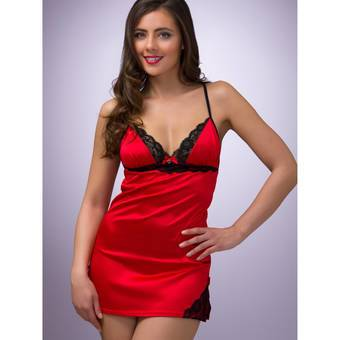 Lovehoney Spoil Me Satin Babydoll Set Red