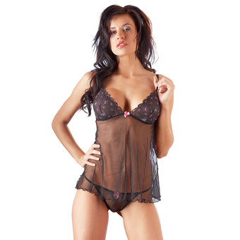 Cottelli Sheer Babydoll and G-String Set