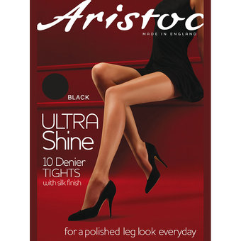 Aristoc Ultra Shine 10 Denier Black Pantyhose