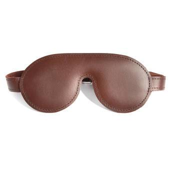 DOMINIX Deluxe BRAUN Padded Leather Blindfold