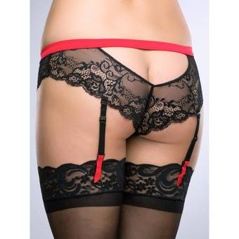 Lovehoney Adore Me Lace & Microfibre Suspender Brief