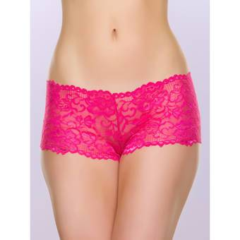 Lovehoney Flirty Pink Lace Boyshort