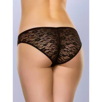 Lovehoney Flirty Black Lace Bikini Panty