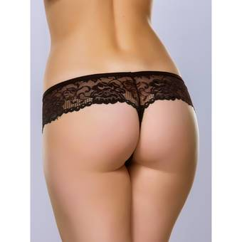 Lovehoney Flirty Black Lace Thong