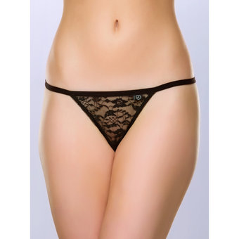 Lovehoney Flirty Black Lace G-String