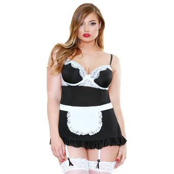 Fantasy Curve Plus Size Sexy French Maid Outfit