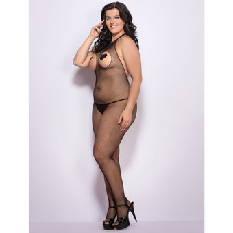 Lovehoney Plus Size Seamless Open Bust & Crotch Bodystocking