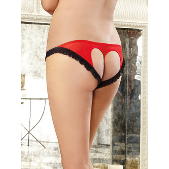 Dreamgirl Plus Size Heart Open Back Knickers