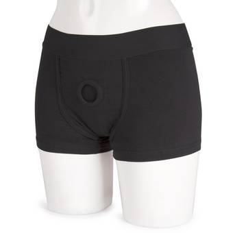 Packer Gear Strap-On Harness Boxer Shorts mit vibrierender Tasche