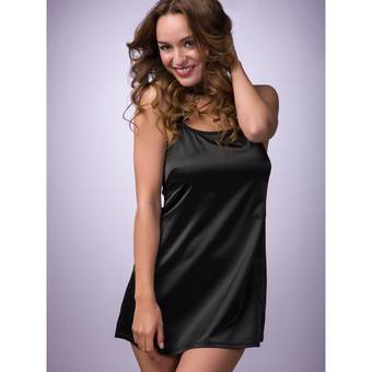 Lovehoney Spoil Me Satin Chemise Black