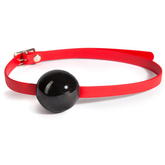 Biothane Durable Rubber Ball Gag with Silicone Ball