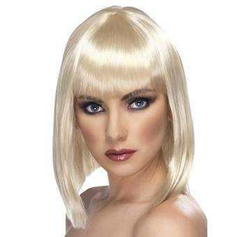 Glam Blonde Short Blunt Cut Wig with Fringe