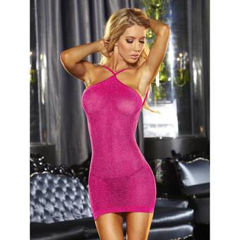 Lapdance Hot Pink VIP Glitter Mini Dress
