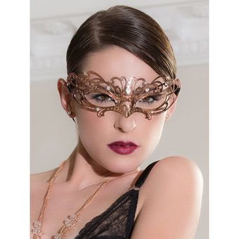 Entice Veneziana Mystique Rose Gold Mask