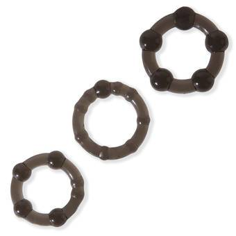 Lovehoney BASICS Triple Cock Ring Set (3 Pack)