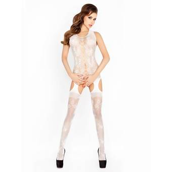 Passion Stretch Floral Fishnet Crotchless Bodystocking