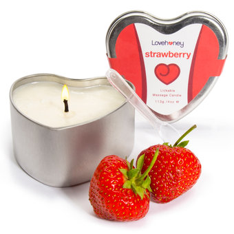 Lovehoney Oh! Strawberry Lickable Massage Candle 4oz
