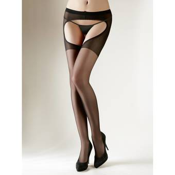 Cottelli Open Back Crotchless Tights