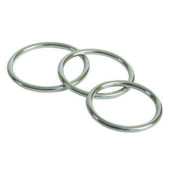 Steel Cock Rings Triple Pack