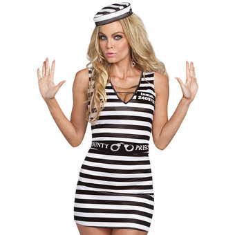 Dreamgirl Miss Demeanour Naughty Prisoner Costume