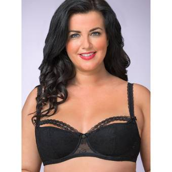 Lovehoney Plus Size Flaunt Me Floral Lace Balcony Bra