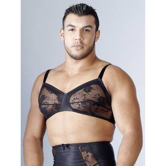 Svenjoyment Black Lace Bra for Men