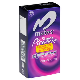 Mates Sheer Pleasure Condoms (12 Pack)