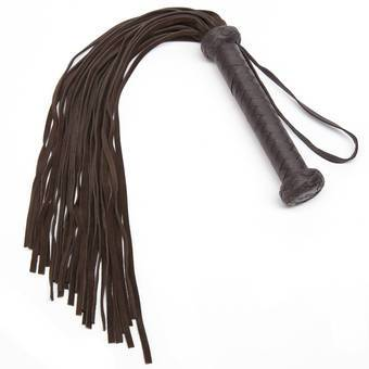 Coco de Mer Brown Leather Flogger