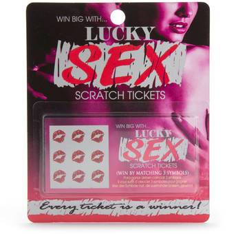 Lot de 8 cartes à gratter par Lucky Sex