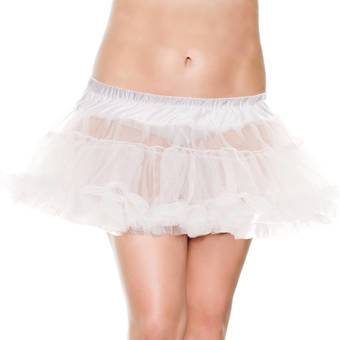 Music Legs Plus Size Layered Petticoat with Ruffle Trim