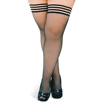 Kix'ies Thigh Highs Plus Size Fishnet Hold Ups