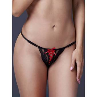 Baci Lingerie Sexy Lace Up G-String